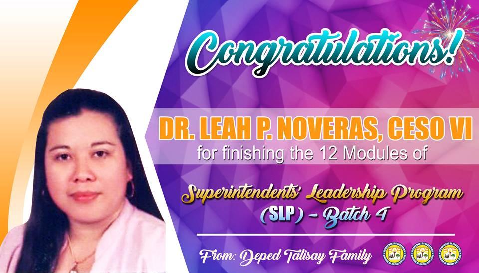 Congratulations SDS Leah P. Noveras!